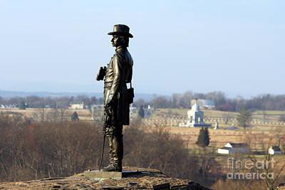 General Warren At Little Round Top Gettysburg  1291 Poster