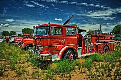 Poster featuring the photograph Generations Of Fire Fighting Equipment by Ken Smith