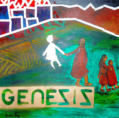 Poster featuring the painting Genesis  By Janelle Dey by Janelle Dey