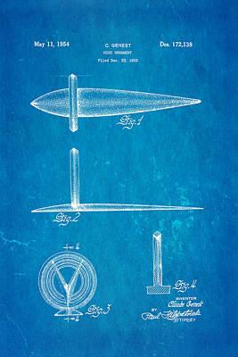 Genest Hood Ornament Patent Art Blueprint Poster by Ian Monk