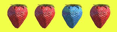 Genetically Engineered Strawberries Poster by Christian Darkin