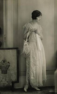 Genevieve Tobin Wearing A Lace Dress Poster