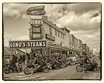Geno's With Cycles Poster by Jack Paolini