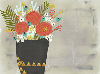 Geo Floral Poster by Katie Doucette