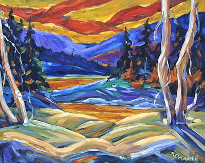 Geo Landscape II By Prankearts Poster