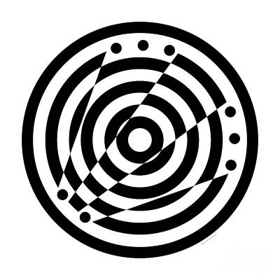 Geometric Circle 6 Poster