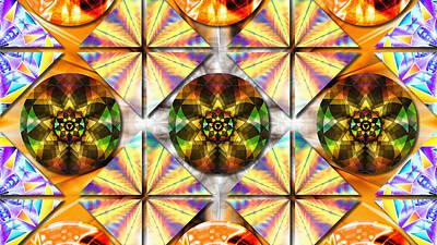 Geometric Dreamland Poster