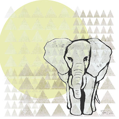 Geometric Elephant Poster by Shanni Welsh