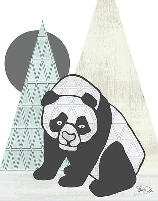 Geometric Panda I Poster by Shanni Welsh