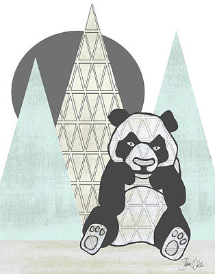 Geometric Panda II Poster by Shanni Welsh