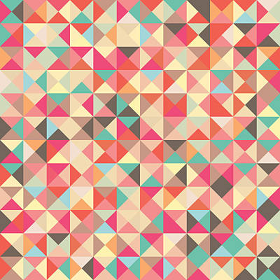 Geometric Pattern Poster by Mike Taylor