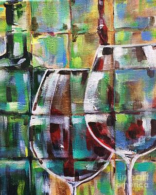 Geometric Wine 2 Poster