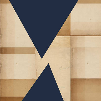 Geometry Indigo Number 2 Poster by Carol Leigh