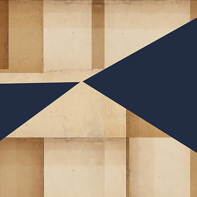 Geometry Indigo Number 4 Poster by Carol Leigh