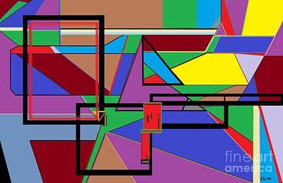 Geometry - Shape On Shape Poster by Eloise Schneider