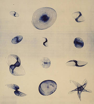 Geometric Cyanotype Poster