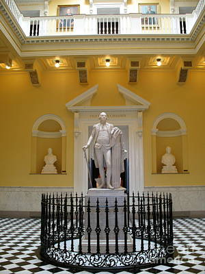 Georg Washington Statue - Capitol Richmond Poster by Christiane Schulze Art And Photography