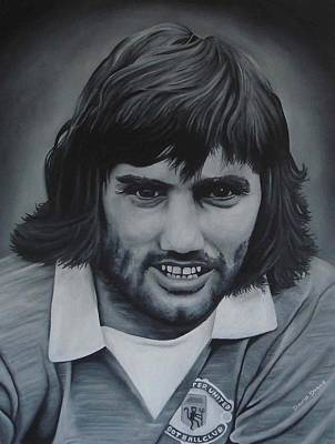 George Best Poster by David Dunne