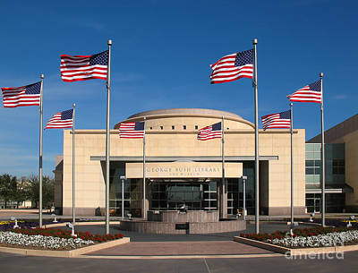 George Bush Presidential Library - College Station Texas Poster by Connie Fox