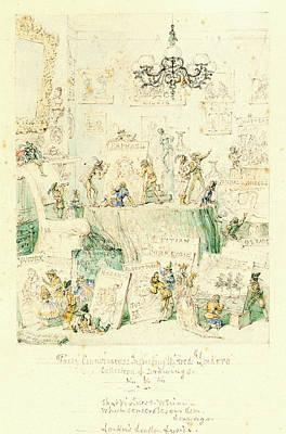 George Cruikshank, British 1792-1878 Poster by Litz Collection
