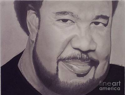 Poster featuring the drawing George Duke by Wil Golden