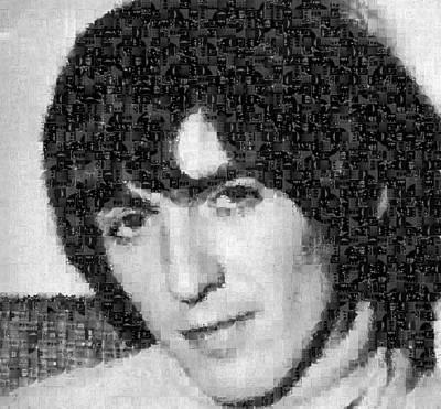 George Harrison Mosaic Image 5 Poster by Steve Kearns