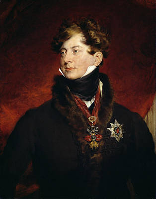 George Iv Oil On Canvas Poster by Sir Thomas Lawrence