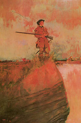 George Rogers Clark On His Way To Kaskaskia Poster