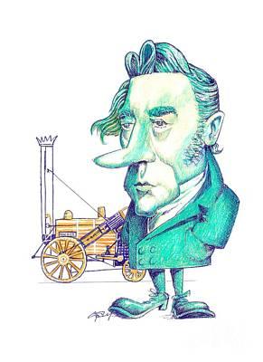 George Stephenson, British Engineer Poster by Gary Brown