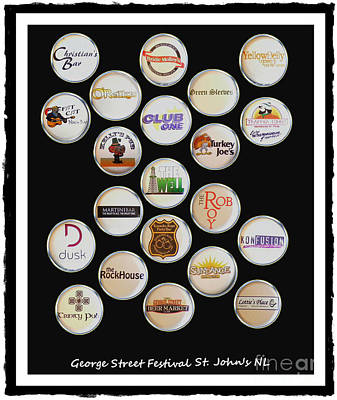 George Street Festival Bottle Caps Collage Poster by Barbara Griffin
