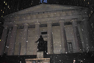 Poster featuring the photograph George Washington Federal Hall by Robert  Moss