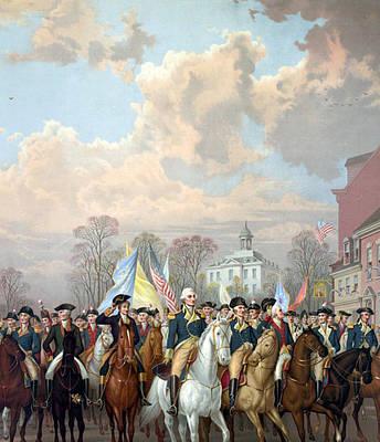 George Washington Riding In Triumph Poster