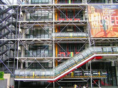 Georges Pompidou Centre Poster by Oleg Zavarzin