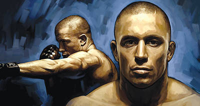 Georges St-pierre Artwork Poster by Sheraz A