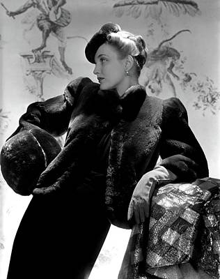 Georgia Carroll Wearing A Cropped Jacket Poster by Horst P. Horst