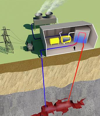 Geothermal Power Poster by Science Photo Library