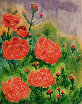 Geraniums Poster by Christy Saunders Church