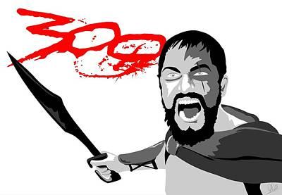 Gerard Butler 300 Poster by Paul Dunkel