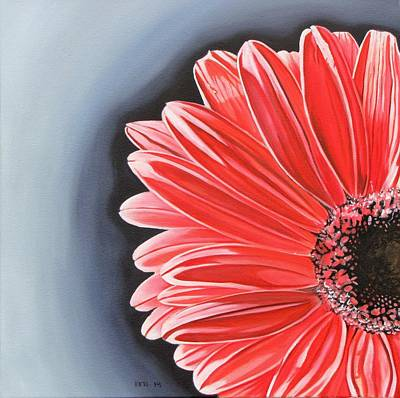 Gerber Daisy Poster by Kevin F Heuman