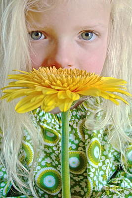 Gerbera Girl Poster by Suzanne Oesterling