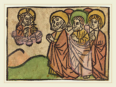German 15th Century, Christ Appearing To The Apostles Poster