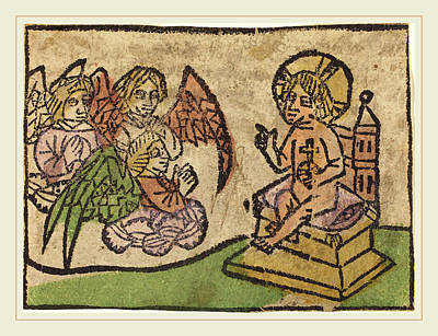 German 15th Century, Christ Child With Three Angels Poster