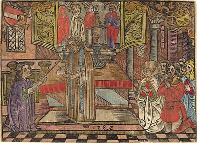 German 15th Century, Miracle At Seefeld, 1484, Woodcut Poster