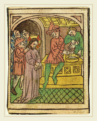 German 15th Century, Pilate Washing His Hands Recto Poster