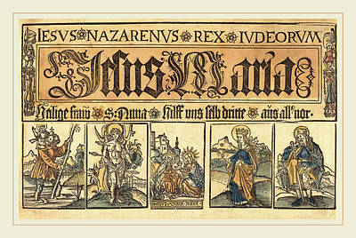 German 15th Century, Saint Anne, The Madonna And Child Poster by Litz Collection