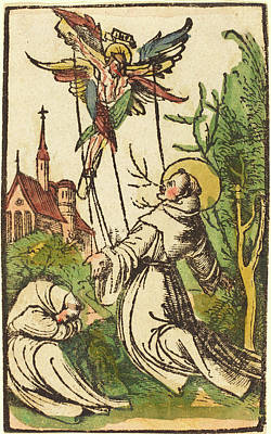 German 15th Century, Saint Francis Receiving The Stigmata Poster by Quint Lox