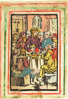 German 15th Century, The Last Supper, C. 1480-1500 Poster by Quint Lox