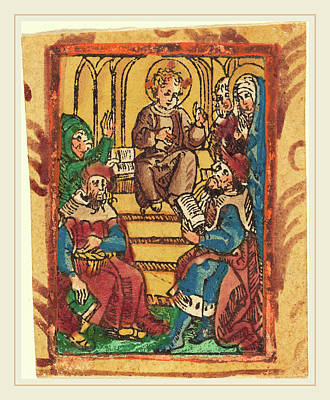 German 15th Century, The Twelve Year Old Jesus In The Temple Poster