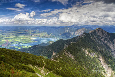 Poster featuring the photograph German Alps View I by Juergen Klust