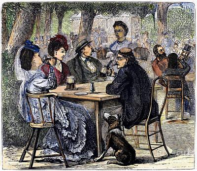 German Beer Garden, 1870 Poster
